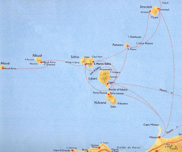 Among the sea of the Aeolian islands Gulet Sailing boats Sigismondo